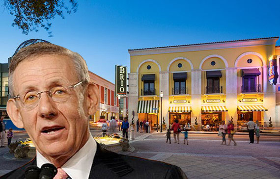 CityPlace in West Palm Beach (Credit: Stephen K. Hill) (Inset: Stephen Ross, Related Cos. founder and CEO)
