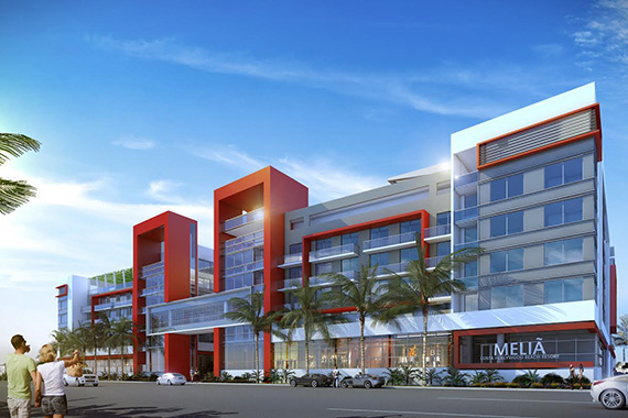 Rendering Of The Melia Costa Hollywood Beach Resort