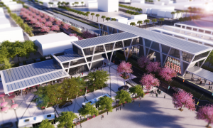 Rendering of the finished Fort Lauderdale station