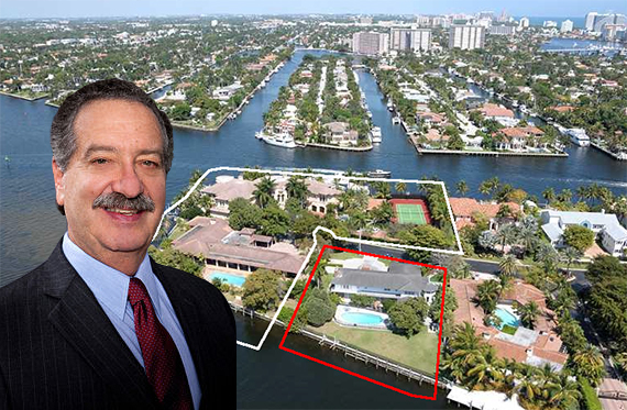 Donald Sussman and his Harborage Isle estate: outlined in red is what he just acquired