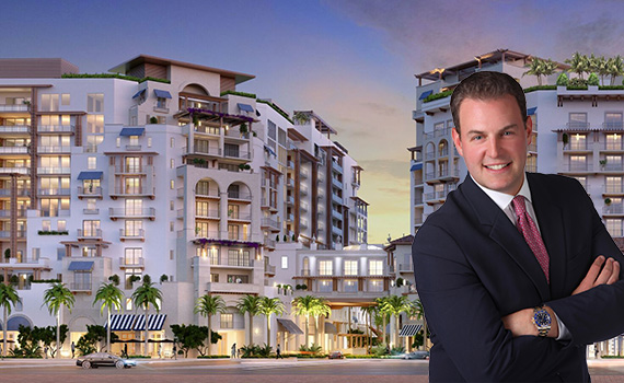 Rendering of the Mandarin Oriental Residences in Boca Raton and Harlan Goldberg