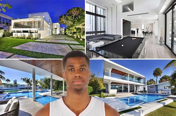 Hassan Whiteside and 528 Lakeview Court in Miami Beach