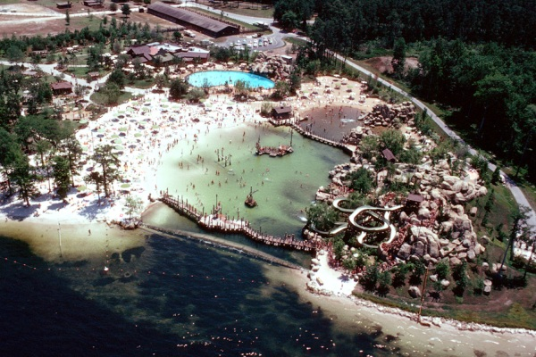 The River Country water park at Disney World before its 2002 closure.