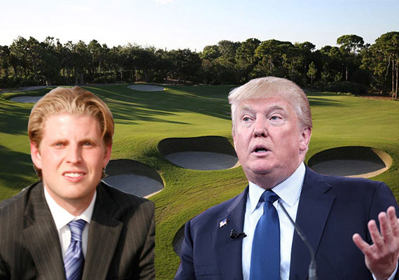 The Trump National Golf Club (Inset: Eric Trump, left, and Donald Trump)
