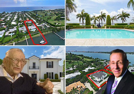 Max Fisher, the Fishers' Palm Beach house and guest house, and Stephen Ross