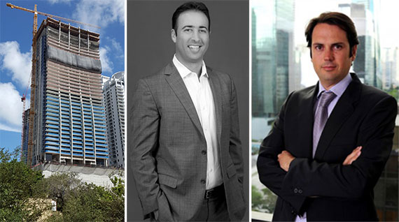 1010 Brickell, 13th Floor Investments Managing Principal Arnaud Karsenti andKey International Co-President Inigo Ardid