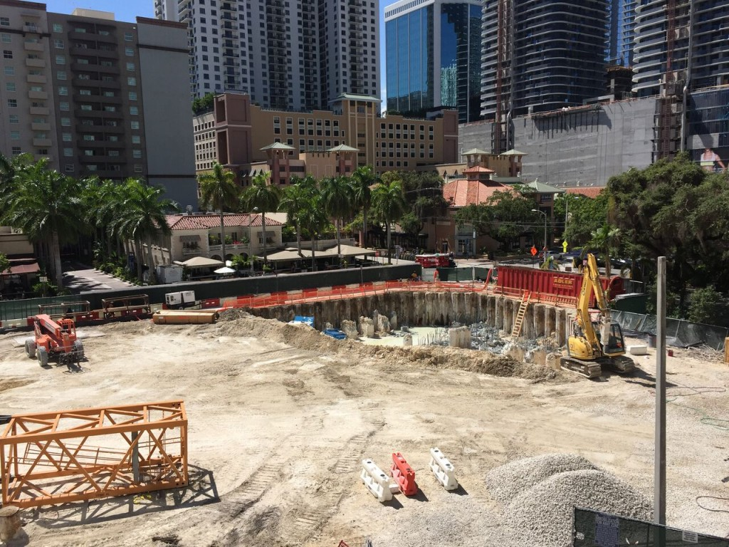 Brickell Flatiron construction site