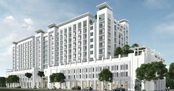 Rendering of the Henry in Coral Gables