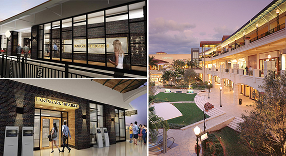 Renderings of the Landmark and the Shops at Merrick Park