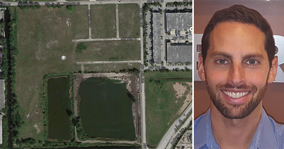 The Pompano Beach industrial site and Adam Vaisman