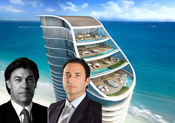 Rendering of the Ritz-Carlton Residences Sunny Isles Beach (Inset: )