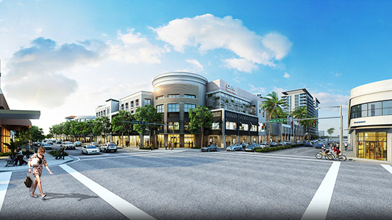Rendering of the Shops at Sunset Place