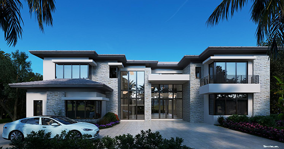 Rendering of a proposed home at Paraiso Estates