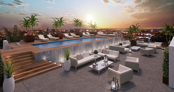 Rendering of the project's pool deck