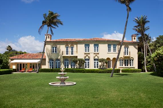 The John Kluge estate sold the Palm Beach mansion at 89 Middle Road for $39 million, with the proceeds benefi tting Columbia University's scholarship fund. It was the third priciest deal of the year.