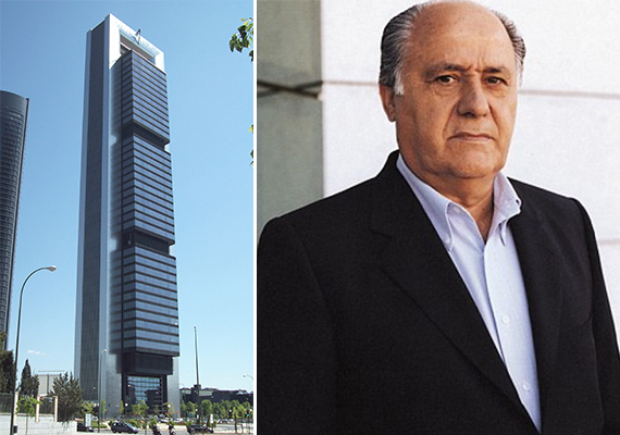 The Cepsa Tower in Madrid (Credit: Luis Garcia) and Amancio Ortega