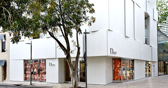 The Christian Dior store in Miami's Design District