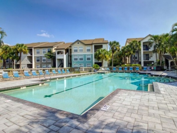 One of four pools at Gulfsteam Isles in Fort Myers