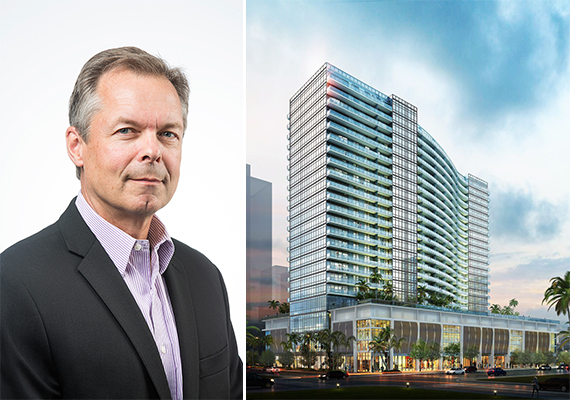 Magellan's Jim Losik and a rendering of Midtown Five