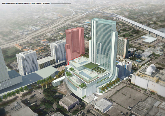 Rendering of the Marriott Marquis Miami Worldcenter Hotel & Expo
