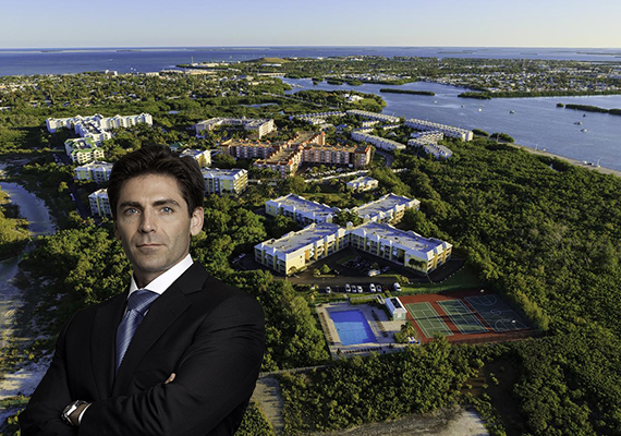 Aerial view of Ocean Walk and Mast Capital's founder and CEO Camilo Miguel