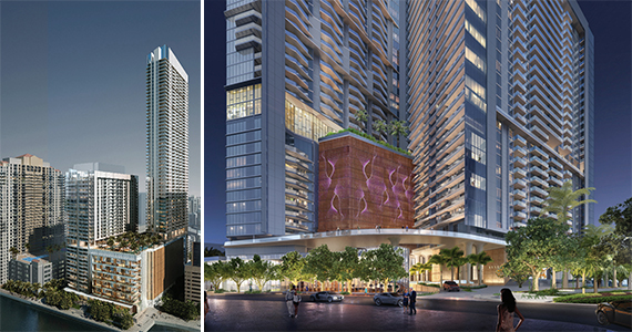 Renderings Of The 1111 Brickell Bay Drive Redevelopment
