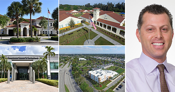 Clockwise from top left: the Coral Springs - Imagine School, Imagine At South Vero, Plantation - Renaissance Charter School, Championship Academy of Distinction Davie Campus, and Charter School Capital CEO Stuart Ellis