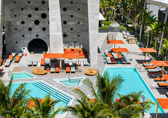 The East, Miami hotel pool deck