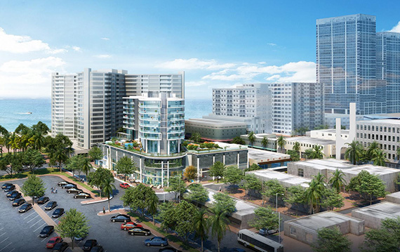 Rendering Of Plans For The Collins 72nd Project Developer Silvia Sabates Coltrane Received Unanimous Roval From Miami Beach