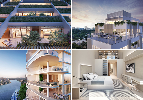 Clockwise From Left: Renderings Of 1111 Lincoln Residences, Eleven On  Lenox, Ritz Carlton Residences, Miami Beach And AquaBlu