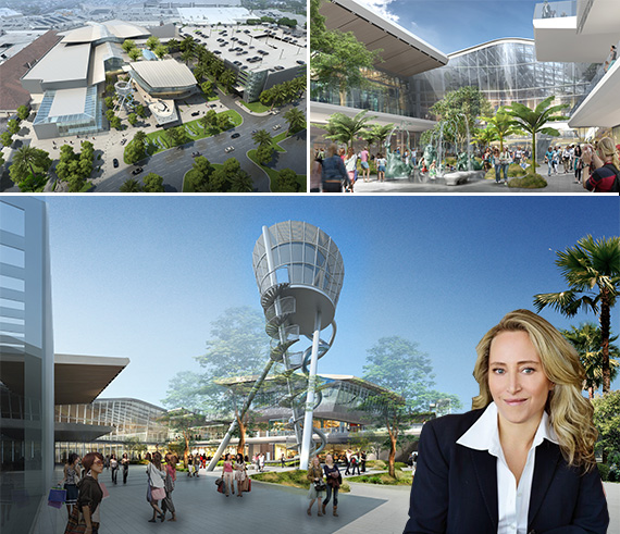 3b856089b3 Renderings of Aventura Mall's new 315,000-square-foot wing and Jackie  Soffer. Topshop Topman and Zara will open flagship stores ...