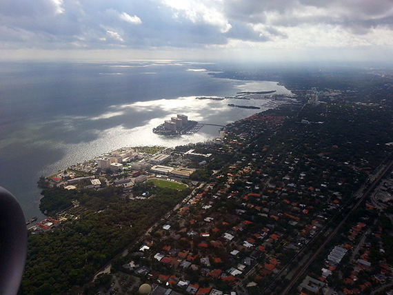 Aerial view of Coconut Grove in 2012