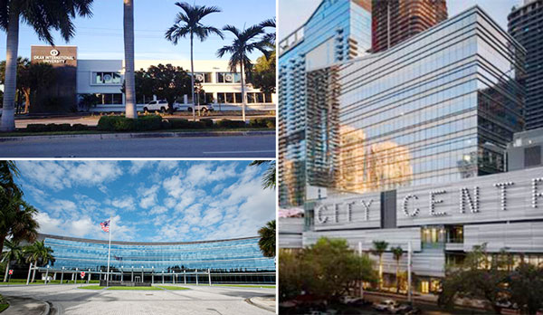 Clockwise From Top Left 225 East Dania Beach Boulevard Two And Three Brickell City Centre 1905 Lynn Financial Center Credit Swire Properties