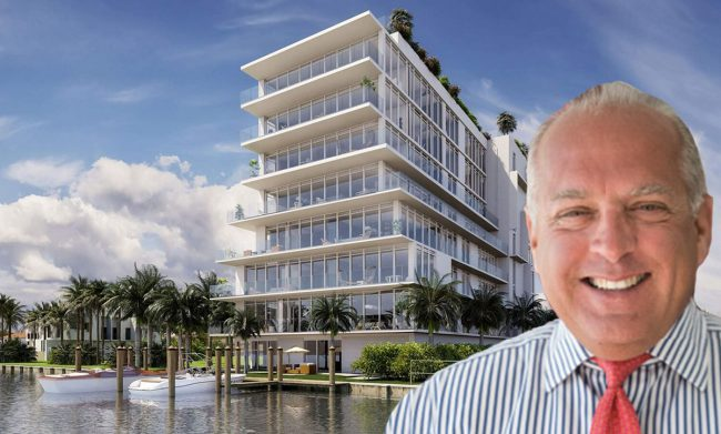 Rendering of Opus Bay Harbor and Congress Group president Dean Stratouly