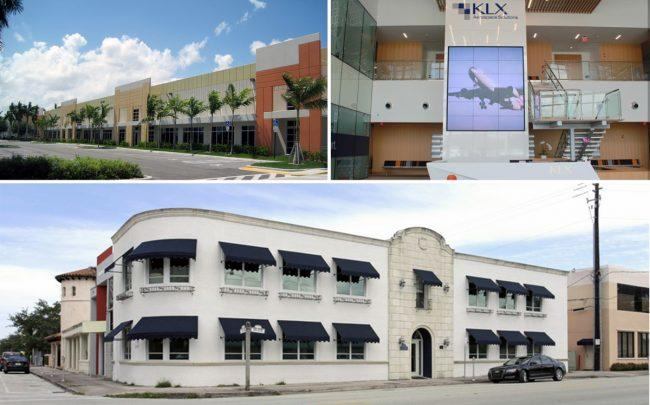 Clockwise from top left: BICC, KLX's new headquarters and 2903 Salzedo Street