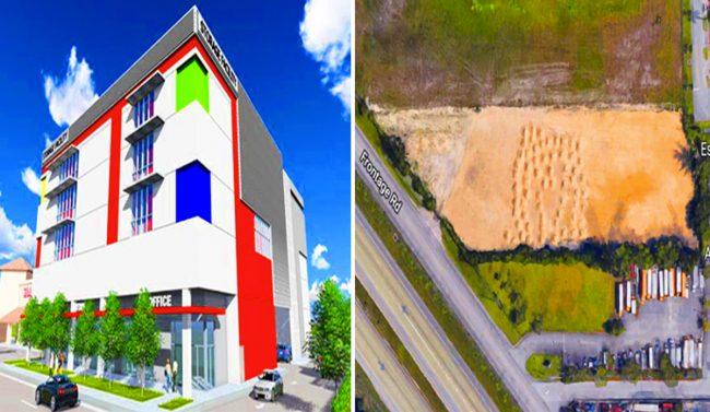 Self Storage Rendering For Project Near Coral Gables And Aerial View Of The  Land In Hialeah Gardens