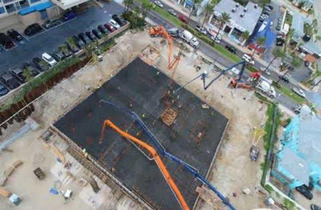The Daytona Beach Convention Hotel Iniums Construction Site Credit Ox Blue You