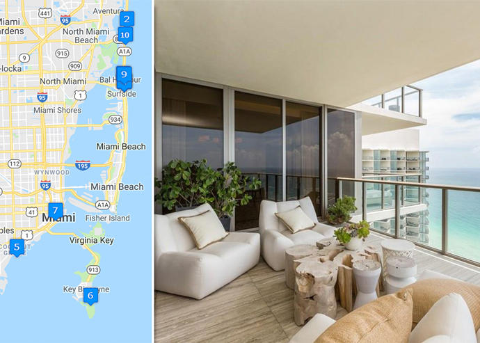 The Week In Luxury: A Map Of Miami Dadeu0027s Priciest Condo Sales