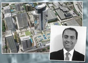 Rendering of Miami Worldcenter and Kevin Lalezarian