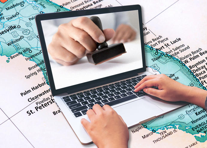 A Florida bill may allow for remote notarizations