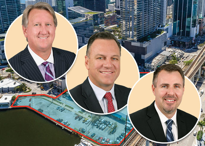 Michael Fay, John Crotty, David Duckworth of Avison Young with 99 Riverside