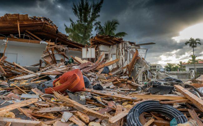 Hurricane damage in Florida (Credit: iStock)