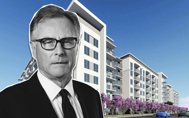 Greg Pinkalla, CEO of Fairfield Residential and a rendering of Fairfield Pompano