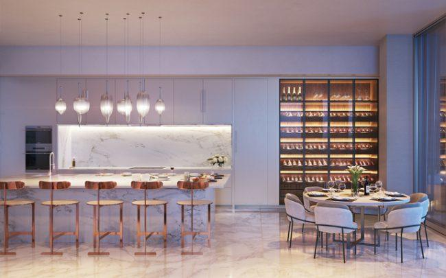 Penthouse Living Room Wine Cooler (Credit: DBOX)