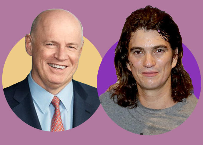 Ivanhoé Cambridge CEO Daniel Fournier and WeWork CEO Adam Neumann (Credit: Getty Images and Ivanhoé Cambridge)