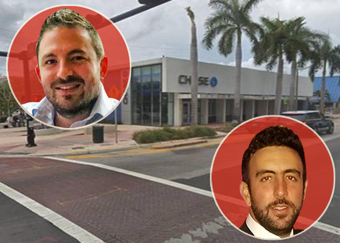 Chase branch at 6916 Collins Avenue with Roberto Susi and Jose Sasson of Axiom Capital Advisors