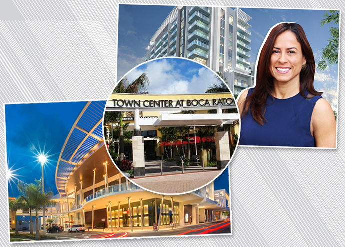 From left: Dadeland Mall, Town Center at Boca Raton and 3900 Biscayne Boulevard with Irma Figueroa (Credit: Simon Malls, Trip Advisor, and BuzzBuzzHomes)