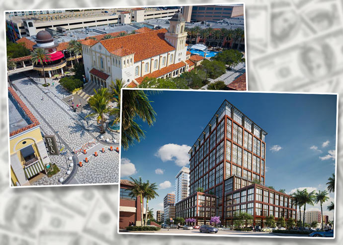 Renderings of Rosemary Square and 360 Rosemary