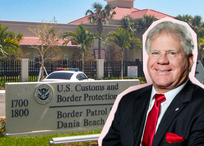U.S. Customs and Border Protection building in Dania Beach and Johnny Allison