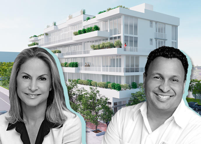 Rendering of Grand Plaza with Toni Schrager and Ricky Trinidad